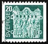 Postage stamp Sweden 1976 Pilgrim's Badge, Adoration of the Magi — Stock Photo