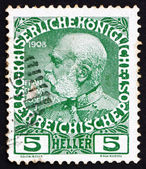 Postage stamp Austria 1913 Franz Josef, Emperor of Austria — Stock Photo