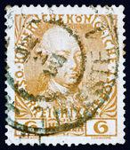 Selo postal áustria 1908 leopoldo ii, imperador da áustria — Foto Stock