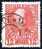 Postage stamp Austria 1908 Franz I, Emperor of Austria — Photo