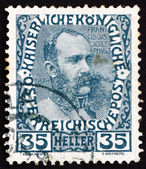 Postage stamp Austria 1908 Franz Josef in middle Age, Emperor of — Stock Photo