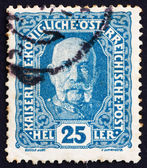 Postage stamp Austria 1916 Franz Josef, Emperor of Austria — Stock Photo