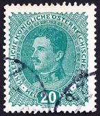 Postage stamp Austria 1918 Karl I, Emperor of Austria — Stock Photo