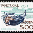 Postage stamp Portugal 1978 Fishing Bark and modern Ship — Stock Photo