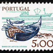 Postage stamp Portugal 1978 Fishing Bark and modern Ship — Stock Photo #14703301