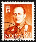 Estampilla noruega 1960 rey olav v — Foto de Stock