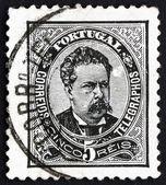 Rei de portugal de 1883 selo luiz, rei de portugal — Fotografia Stock