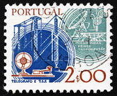Postage stamp Portugal 1978 Telegraph and Satellite — Stock Photo