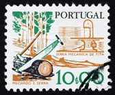 Postage stamp Portugal 1978 Saw, Woodworking — Foto Stock
