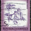 Postage stamp Austria 1973 Aggstein Castle, Lower Austria — Stock Photo