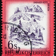 Stock Photo: Postage stamp Austri1975 Lindauer Hut, Vorarlberg