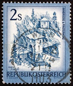 Postage stamp Austria 1974 Inn Bridge, Alt Finstermunz, Tirol — Stock Photo