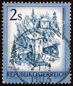 Postage stamp Austria 1974 Inn Bridge, Alt Finstermunz, Tirol — Stock Photo