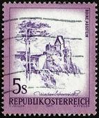 Postage stamp Austria 1973 Aggstein Castle, Lower Austria — Stock Photo