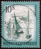 Postage stamp Austria 1973 Lake Neusiedl, Burgenland — Stock Photo