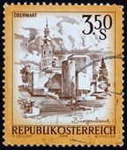 Poštovní známky rakouska 1978 velikonoční kostel, oberwart — Stock fotografie