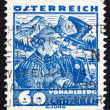 Postage stamp Austria 1929 Bridal Couple from Vorarlberg — Stock Photo