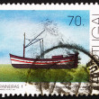 Postage stamp Portugal 1993 Single-mast Trawler, Fishing-boat - Stock Photo