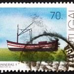 Postage stamp Portugal 1993 Single-mast Trawler, Fishing-boat — Stock Photo