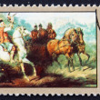 Postage stamp Poland 1968 Hunting with Falcon, Painting — Stock Photo #14801443