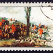 Postage stamp Poland 1968 Departure for the Hunt, Painting — Stock Photo #14801569