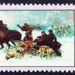 Postage stamp Poland 1968 Wolves' Raid, Painting — Stock Photo