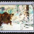 Postage stamp Poland 1968 Bear Hunt, Painting — Stock Photo #14801711