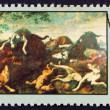 Postage stamp Poland 1968 Fox Hunt, Painting — Stock Photo #14801879