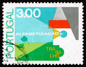 Postage stamp Portugal 1976 Farm, Fight against Illiteracy — Stock Photo