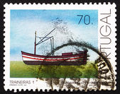 Postage stamp Portugal 1993 Single-mast Trawler, Fishing-boat — Stock Photo