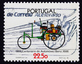 Postage stamp Portugal 1986 Benz, Automobile Centenary — Stock Photo