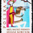 Postage stamp Poland 1962 King on Horseback, Illustration — Stock Photo