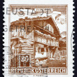 Postage stamp Austria 1962 Old Farmhouse, Pinzgau — Stock Photo