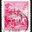 Postage stamp Austria 1962 Esterhazy Palace, Eisenstadt - Stock Photo