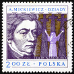 Postage stamp Poland 1978 Adam Mickiewicz, Polish Dramatist — Stock Photo