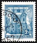 Postage stamp Austria 1958 Christkindl Church — Stok fotoğraf