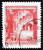 Briefmarke österreich 1962 schloss porcia spittal an der drau — Stockfoto