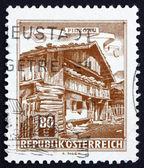 Postage stamp Austria 1962 Old Farmhouse, Pinzgau — Stock Photo