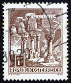 Postage stamp Austria 1970 Romanesque Columns, Millstatt Abbey — Stock Photo