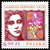 Postage stamp Poland 1978 Gabriela Zapolska, Polish Dramatist — Stock Photo