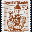 Postage stamp Austria 1949 Woman from Vorarlberg, Bregenzer Fore — Stock Photo