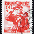 Postage stamp Austria 1948 Woman from Carinthia, Lavant Valley — Stock Photo