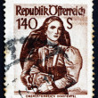 Postage stamp Austria 1948 Woman from Upper Austria, Inn Distric — Stock Photo