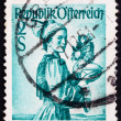Postage stamp Austria 1948 Woman from Upper Austria - Stock Photo