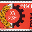 Stock Photo: Postage stamp Poland 1964 Symbol of Peasant-Worker Alliance