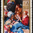 Stock Photo: Postage stamp Spain 1969 Adoration of Magi, Christmas
