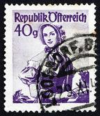 Postage stamp Austria 1948 Woman from Vienna, 1840 — Stock Photo