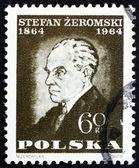 Posta pulu polonya 1964 stefan zeromski, yazar — Stok fotoğraf