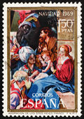 Postage stamp Spain 1969 Adoration of the Magi, Christmas — Stock Photo