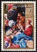 Postage stamp Spain 1969 Adoration of the Magi, Christmas — Stock Photo